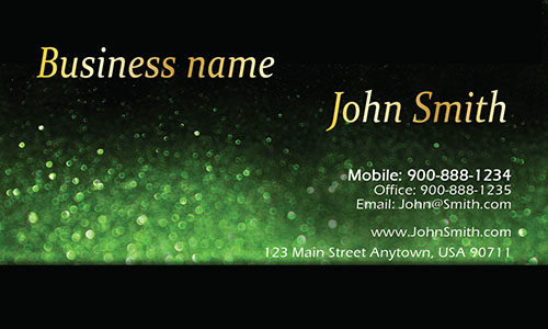 Green Personal Business Card - Design #1201582