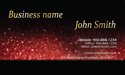 Red Personal Business Card - Design #1201585