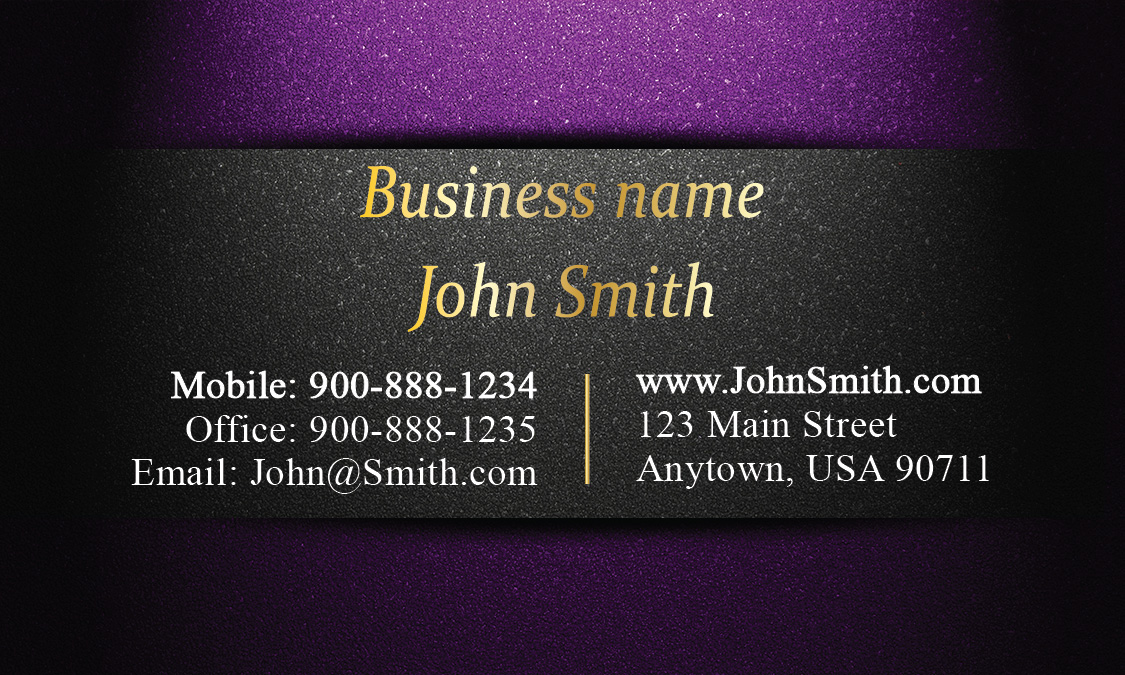 Unique layout purple and gold visiting card design 1201591 colourmoves