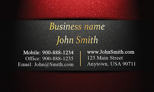 Unique Layout Red and Gold Visiting Card - Design #1201594