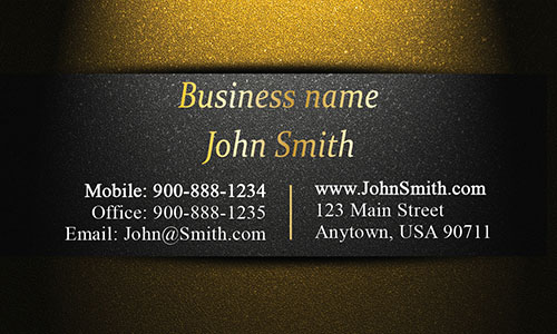 Unique Layout Gold Visiting Card - Design #1201595