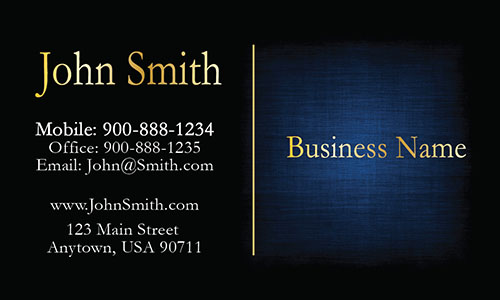 Blue Personal Business Card - Design #1201601