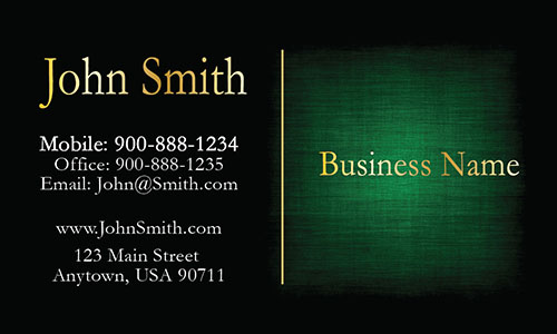 Green Personal Business Card - Design #1201603