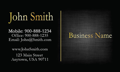 Black Personal Business Card - Design #1201605