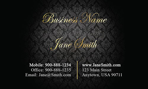 Black Personal Business Card - Design #1201611