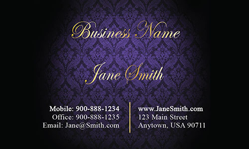 Blue Personal Business Card - Design #1201612