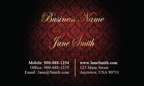 Red Personal Business Card - Design #1201613
