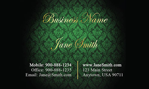 Green Personal Business Card - Design #1201614