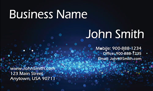 Blue Personal Business Card - Design #1201621