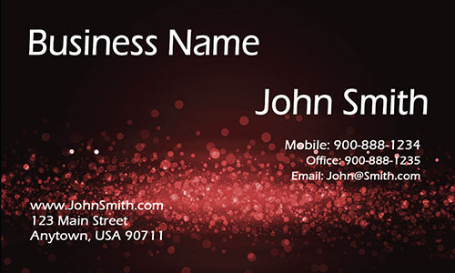 Red Personal Business Card - Design #1201622