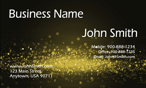 Yellow Personal Business Card - Design #1201623