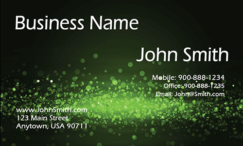 Green Personal Business Card - Design #1201625
