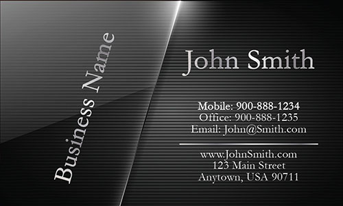 Black Personal Business Card - Design #1201651