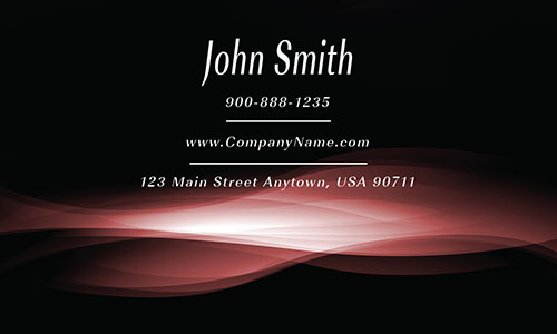 Red and Black Smoke Shop Business Card - Design #1201664