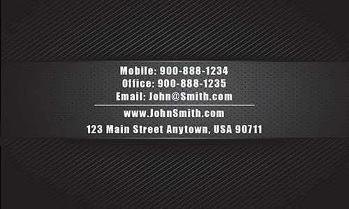 Black Personal Business Card - Design #1201671