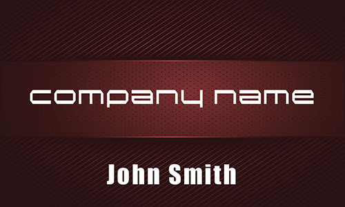 Red Personal Business Card - Design #1201673
