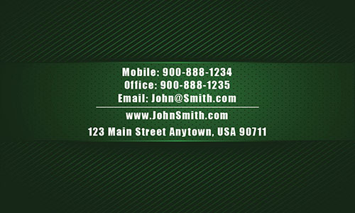 Green Personal Business Card - Design #1201674