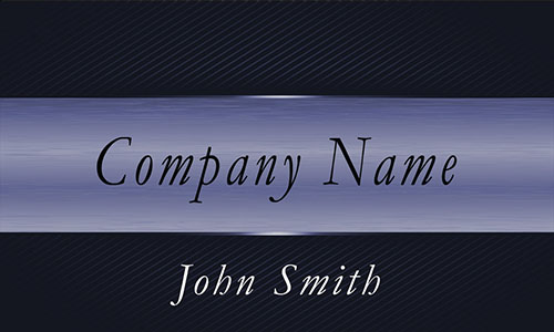 Black and Blue Metallic Stripe Professional Business Card  - Design #1201682