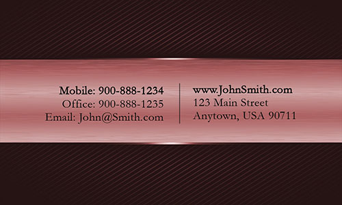 Black and Red Metallic Stripe Professional Business Card  - Design #1201683
