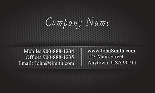 Black Metallic Embossed Look Business Card - Design #1201691