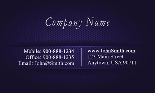 Blue Metallic Embossed Look Business Card - Design #1201692