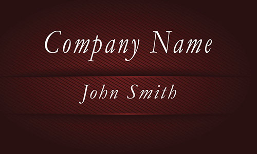 Red Metallic Embossed Look Business Card - Design #1201693