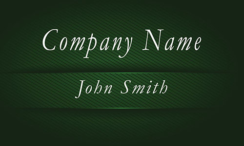 Green Metallic Embossed Look Business Card - Design #1201694