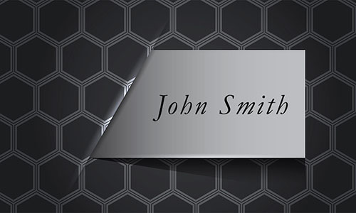 Black Personal Business Card - Design #1201701