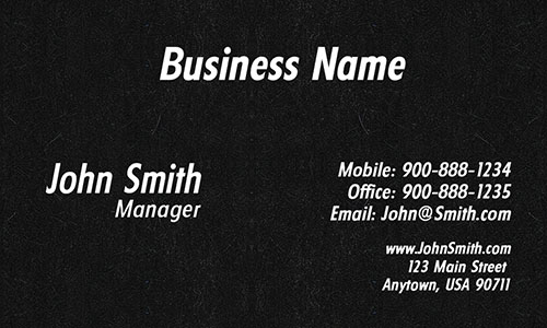 Black Personal Business Card - Design #1201711