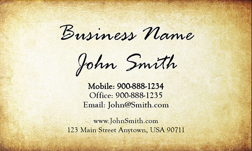 Yellow Personal Business Card - Design #1201721
