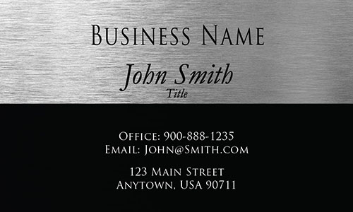 Gray Personal Business Card - Design #1201731