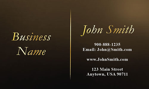 Brown Personal Business Card - Design #1201741