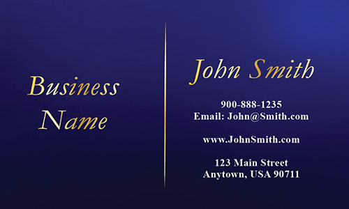 Blue Personal Business Card - Design #1201742