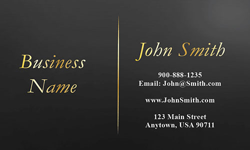 Black Personal Business Card - Design #1201743