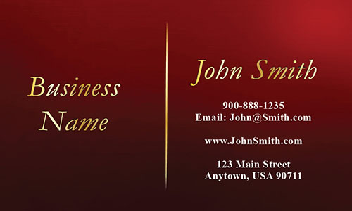 Red Personal Business Card - Design #1201744