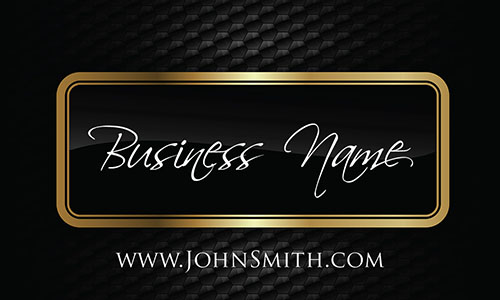 Consulting Gold Border Metal Carbon Business Card - Design #1201751