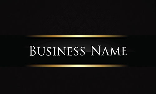 Black Personal Business Card - Design #1201761