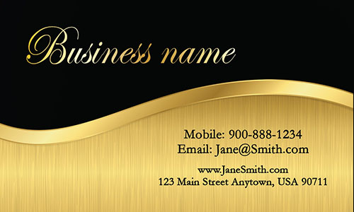 Black Personal Business Card - Design #1201771