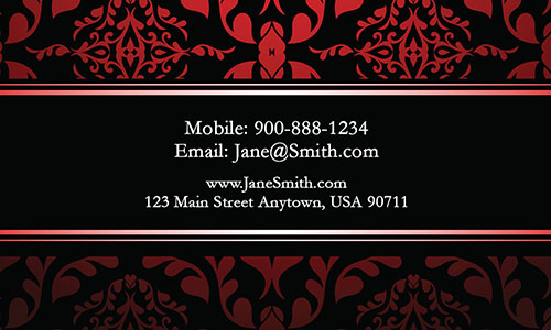 Red Personal Business Card - Design #1201792