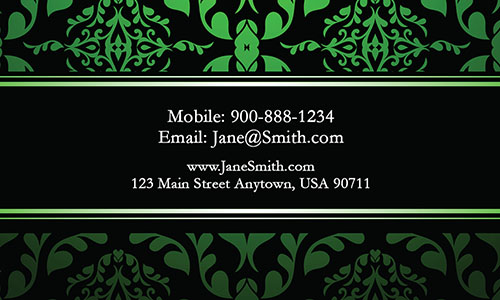 Green Personal Business Card - Design #1201794