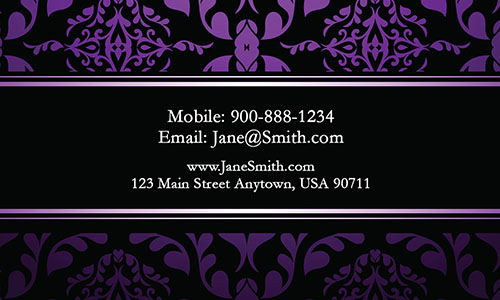 Purple Personal Business Card - Design #1201795
