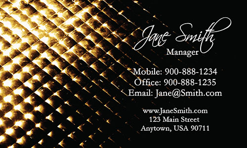 Yellow Personal Business Card - Design #1201801