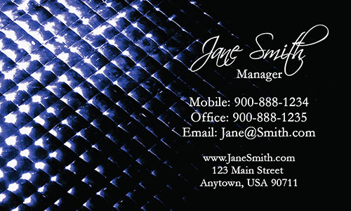 Blue Personal Business Card - Design #1201802
