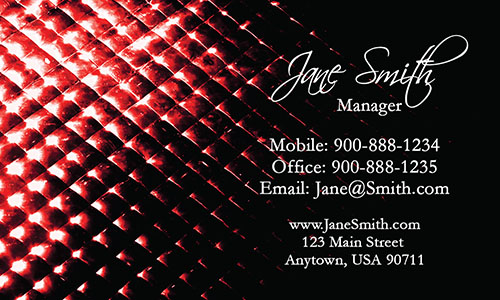 Red Personal Business Card - Design #1201803