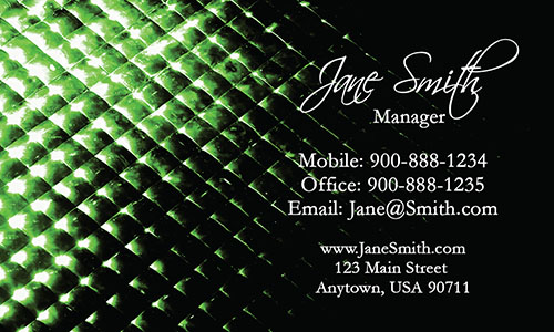 Green Personal Business Card - Design #1201805