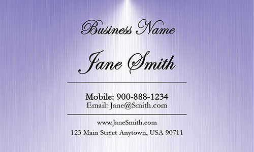 Blue Personal Business Card - Design #1201822