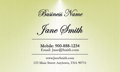 Yellow Personal Business Card - Design #1201823