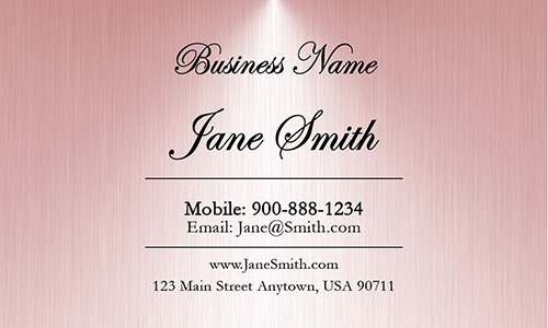 Pink Personal Business Card - Design #1201824