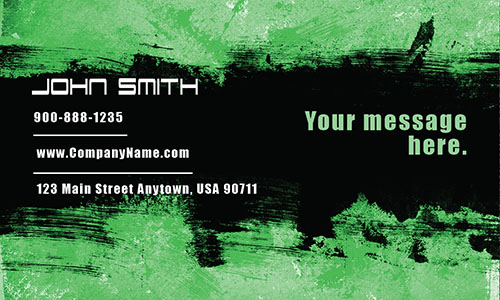 Green Personal Business Card - Design #1201863