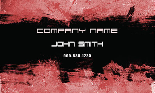 Red Personal Business Card - Design #1201864